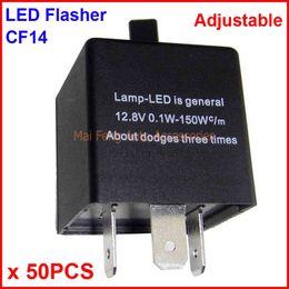 Wholesale Electronic Park Brake - 50PCS CF14-KT LED Flasher Adjustable Color 3 Pin Electronic Relay Module Fix Auto LED Turn Signal Error Flashing Blinker 12V 0.02A TO 20A