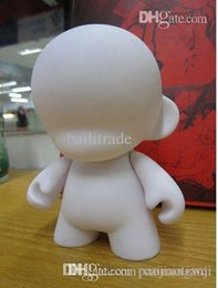 Wholesale White Dunny - Wholesale-DIY Mini Rotomolded PVC Kid Doll Toy Figure Unpainted Dunny Doll Munny World Doll Toy2R Kidrobot Blank White