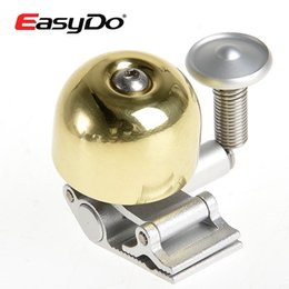 Wholesale Classic Bicycle Handlebars - EasyDo Road Bike Bicycle Fit 22.2-25.4mm Handlebar Brass Bell Horn Classics Bell Ring Sound Bicycle Accessories Gold