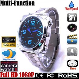 Wholesale Vision Sounds - Brand New stainless steel 8GB Waterproof Watch camera HD 1920*1080P Sound Control Night Vision watch camera in retail box 18pcs lot