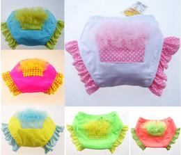 Wholesale Girls Swim 3t - New Fashion Baby Ruffle Swim Diaper Cake bloomers Lace Cake swim diapers swimwear baby swimming shorts