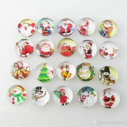 Wholesale Glass Chunks - 18 mm Noosa Chunks snaps glass Christmas clasps match noosa bracelets necklaces earrings DIY jewelry 160563