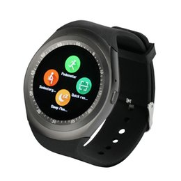 Wholesale Screen For Gps - Wholesale Y1 Smartwatch Beautiful Smart Watch for IOS Android Samsung Apple iPhone Round Touth Screen Wrisbrand with SIM Card Slot