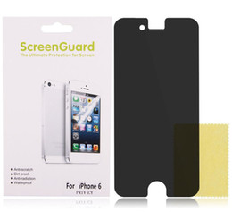Wholesale S4 Film Retail - Privacy Anti-Spy LCD Screen Protector Guard Film For iPhone 4 5 5C 6 Plus Samsung S3 S4 S5 S5 Edge Note 3 Note4 With Retail Package