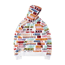 Wholesale Fashion Artists - Fashion box logo Winter Skateboard Cotton Hoodie Hoody Europe Artist Men Women Allover TEXT PULLOVER Hooded Sweatshirt
