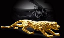 Wholesale Big Cat Cars - Panther Leopard Cougar Big Cat Car Collector Resin Statue Decor Sculpture gifts 0003