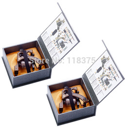 Wholesale Danny Tattoo - Wholesale-Freeshipping 2pc Lot New Danny Brass Tattoo Machine Gun shader&liner 10,12 Wrap Coil Equipment Set with 2pc beatiful packing