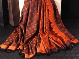 Wholesale Red Velvet Rabbit - G Brand Check Wool Cotton Cashmere Silk Scarves Scarf Wrap Shawl Pashmina Christmas gift Rabbit hair Scarf Shawl 190x70cm