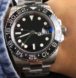 Wholesale Mens Watches Brands - Black Ceramic Bezel AAA Luxury Brand Automatic Watch 116710 Stainless Clasp Mens Women's Fashion Master Watches Original Clasps