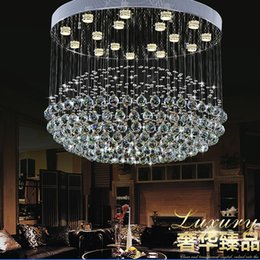 Wholesale Luxury Chandeliers For Dining Rooms - Modern crystal chandelier light LED crystal Ball Pedant lamp GU10 lights luxury droplight For living room villa Hotel