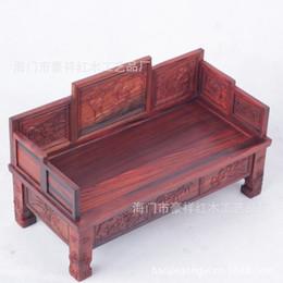 Wholesale Wood Ornaments Furniture - Large mahogany red wood miniature furniture Ocean bed jade ornaments vase base foundation factory wholesale