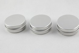 Wholesale metal lipstick containers - Free Shipping 15g Aluminum Lip Gloss Container 15ml Lipstick Box Metal Jar Lip balm Cosmetic Packaging ,1000pcs lot