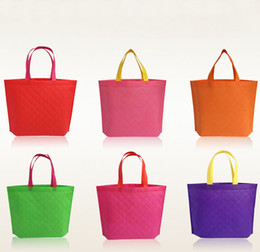 Wholesale Shopping Bags For Vegetable - Reusable Cotton Shopping Bag Convenient Grocery Tote Eco-Friendly Foldable Bag For Shopping 8 Colors Shopping Bag Tote Shoulder Bag Free DHL