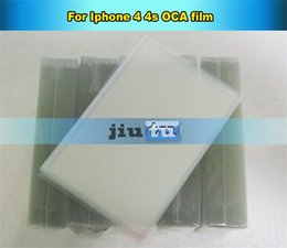 Wholesale Iphone Clear Adhesive Double Tape - By DHL free 60pcs lot Mitsubishi type OCA film Optical Clear Adhesive For iPhone 4G 4s Digitizer LCD Double Sided Tape part 250um
