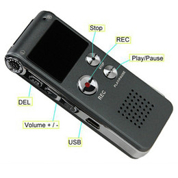Wholesale Free Dictaphone - Digital Audio Voice Recorder Multifunctional Rechargeable 8GB Memory 650HR Dictaphone MP3 Player Free DHL Fast Shipping