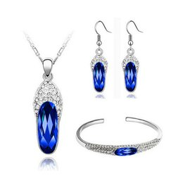 Wholesale Earring Slipper - Small Slippers Necklace Earrings Bracelets Sets High-Grade african costume jewelry sets For Christmas Day Best Gift 8160
