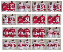 Wholesale Vintage Wings - Throwback Detroit Red Wings Hockey Jersey 5 Nicklas Lidstrom 24 Chris Chelios 91 Sergei Fedorov Vintage CCM Authentic Jerseys Top Quality !