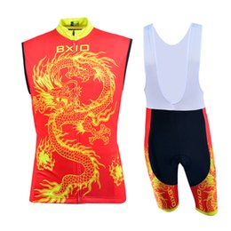 Wholesale Dragon Cycle Set - Print Dragon Biker Outfits Sets Red Bike Racing Riding Wear Suits Summer Cool Cycling Uniforms Hot Sale BX-0309R-023