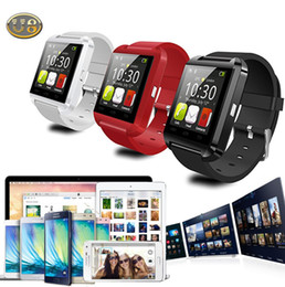 U8 sport u guardare online-U8 Smartwatch Bluetooth Smart orologio da polso U orologio da polso sportivo Orologi per uomo donna MTK da polso sincronizzare iPhone Samsung Smartphone DHL