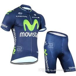 2015 nuevo Movistar Jersey Ciclismo / Ciclismo Ropa de manga corta Jersey Culotte corto / Pantalones Traje Apretado Maillot Ropa Bicicleta Ropa transpirable desde fabricantes