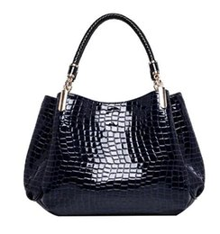 Wholesale China Fashion Handbags - Designer Alligator Bags Women Leather Handbags China Brand Ladies Hand Bags Fashion Shoulder Bags Black Bolsos Sac 2017
