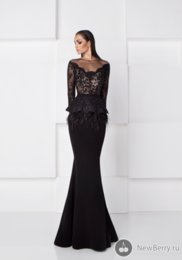 Wholesale Two Piece Special Occasion - Sexy Black Evening Dresses Sheer Illusion Formal Prom Gowns Saiid Kobeisy 2016 Special Occasion Dress Mermaid Long Sleeve Lace Arabic Dubai