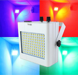 Wholesale Color Changing Strobe Lights - Voice Control LED Strobe Light 4 Color Change RGB Effects Stage Lighting Disco Lights For DJ KTV Party Supplies