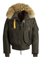 Wholesale Men S Down Jackets Cheap - 2018 Men's Parajumpers Gobi Down Parka Winter Jacket Arctic Coat With Free DHL Shipping Black Navy Red Green Top Copy Big Fur Cheap