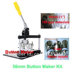 Wholesale Button Badge Machine Maker - Wholesale-Hot Discount Professional Button Maker Kit 56mm Badge Button Maker Machine + 56mm Mould +100 Sets Pinback Supply