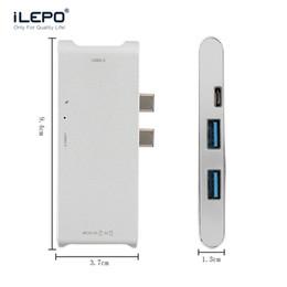 Adaptateur pour concentrateur de type 6 en 1 C 2 Ports USB 3.0 Port de chargement de type C Lecteur de carte micro SD Macbook Thunderbolt 40 Gbit le plus rapide ? partir de fabricateur