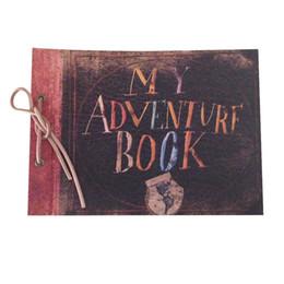 Wholesale Unique Bamboo - Scrapbook Album with Leather String, Pixar Up, My Adventure Book, Wedding Photo Album, Hand Made Unique DIY Scrapbook