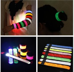 Wholesale Sports Supplies Wholesale - LED arm band Wrist band Warning Tape Wristband LED Light Cycling Night Running Sport Band Party Arm Belt Party Supplies KKA3498