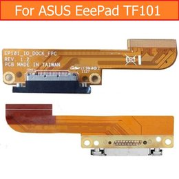 Wholesale Pad Jacks - Wholesale- 100% Genuine Sync Date Connector Flex Cable For Asus Eee Pad TF101 EP101 USB Charger Port Flex Cable USB Charging Jack Dock