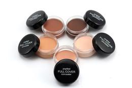 Poudre de crème pleine en Ligne-Maquillage Visage Concealer Popfeel 5 couleurs Fond de Teint Poudre Full Cover Fond de teint Poudre Maquillage Beauté Blemish Concealer Cosmétiques