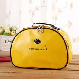 Wholesale New Design Waterproof Case - New Design !Cosmetic Bag Waterproof Women Makeup Bag Travel Portable Carton Black Red Color Professional Cosmetic Case