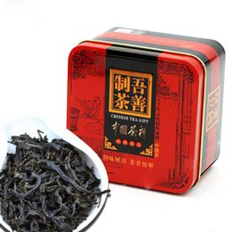 Wholesale Food Diets - C-HC010 High-grade Dahongpao Oolong tea China Da hong pao black tea advanced organic Chinese diet gift box packing green food