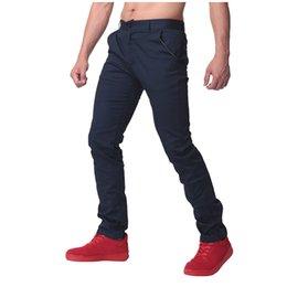 Wholesale Cargo Soft - Wholesale- 100% Cotton Soft Mens Casual pants chinos Men Straight Trousers Solid Color Slim Fit Business Work Autumn Male Long Cargo Pants