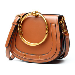 Wholesale Sky Saddle - 2017 Designer style Circle Flap handbag Genuine leather Vintage Shoulder crossbody bags 37654 Stars Saddle Bag Handbags Bracelet bag