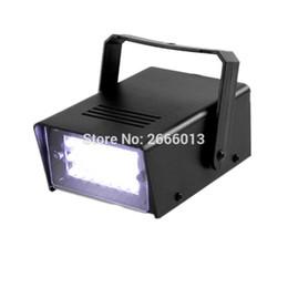 Wholesale Super Bright Led Strobe - White color Mini LED Strobe Light DJ Party Disco Light Effect with 24 Super Bright LED flash lights led lamp