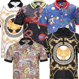 Wholesale Asian Clothing Men - 2018 erfect wholesale quality is very good high-end designer clothing, shape is the perfect Asian code size Medusa Men's Polos