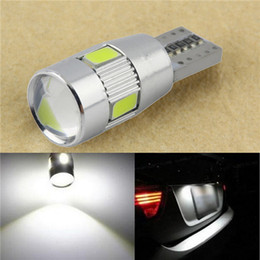 Wholesale 158 Bulb Led - 1PC New parking HID White CANBUS T10 W5W 5630 6-SMD Car Auto LED Light Bulb Lamp 194 192 158
