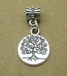 Wholesale Antique Christmas Tree - Tree of life charms pendant Big hole antique alloy metal DIY jewelry accessories 50pcs lot SP200 for bracelet and necklace