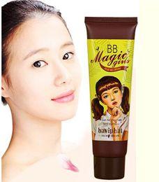 Wholesale Skin Whitening Cream Korea - Korea Cosmetics BB Baviphat Magic Girls Whitening Moisturizing Foundation Makeup BB Cream Perfect Cover Concealer Cream 45g
