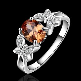 Wholesale 925 Sterling Ring Price - Swarovski Elements gorgeous design 925 Sterling Silver fashion chain ladies cute party engagement zricon Ring jewelry factory price R648-B