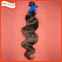 Wholesale Extension Sample Color - Sample 1 bundle 1 piece natural brown color #2 100g Body Wave Malaysian human hair extension Weekly Promotion