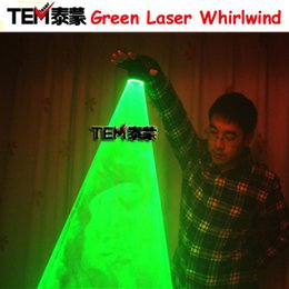 Wholesale Handheld Laser Lights - Free Shipping Green Laser Whirlwind Handheld Laser Cannon For DJ Dancing Club Rotating Lasers Gloves Light Pub Party Laser Show