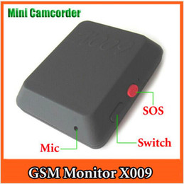 Wholesale Gsm Cam - Latest Mini Cam recorders X009 Camera Monitor Video Recorder Sos Gps Dv Gsm 850 900 1800 1900mhz spy cam with SOS Spy X009