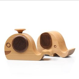Wholesale Wholesale Wooden Mobiles - Elephant Shaped Wooden Wireless Bluetooth Speaker for iPhone 6 5S Samsung Galaxy S6 S5 Note4 Wooden Fashionable Wireless Speaker System 10pc