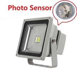 sensore fotocellula di illuminazione Sconti 50W Outdoor Garden Yard IP65 Impermeabile proiettore con sensore a fotocellula Led Flood Lights AC 110-240V