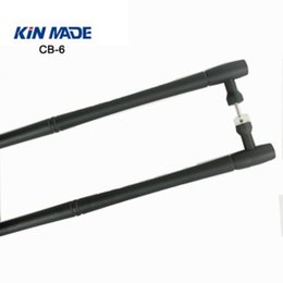 "Wholesale solid door pull handle - KIN MADE 20"" rustic black back to back handle barn wood door handle pull solid handle bar"